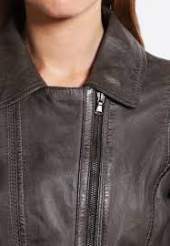 mujer chaquetas oakwood chaqueta de cuero gris fonce oakwood leather conditioner australia popular