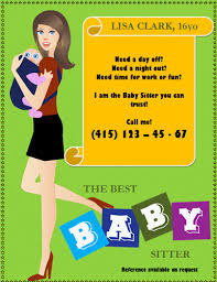 Sample Babysitting Flyer Daycare Flyers Free Babysitting Flyers Templates Ideas And Samples