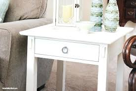 distressed white table. Rustic White End Tables Distressed Table . S