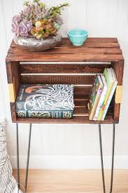 diy crate furniture. DIY Crate Nightstand Or End Table - Love All These Furniture Ideas And Pictures Diy R