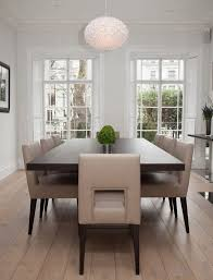Interesting Elegant Dining Room Sets Traditional White Rounded  Decorative Pendant Lamp Brown Rectangle Dining Table