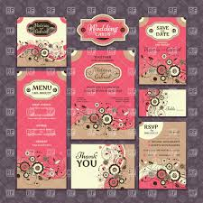 Templates Of Wedding Invitations Thank You Cards Or Table Cards