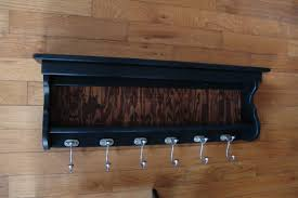 Black Wood Coat Rack Magnificent 32 Handcrafted Black MILK PAINT Wooden Coat Rack With Coatrack For