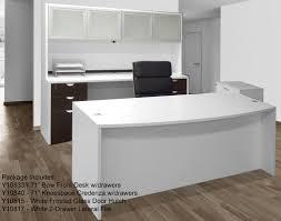 white home office furniture 2763. White Woodgrain 4 Piece Office Furniture Package Home 2763 I