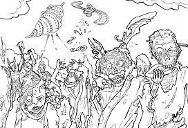 Small Picture All Zombie Coloring Page Halloween Pages Bebo Pandco