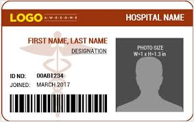 Word Badge Template Doctors Photo Id Badge Templates For Ms Word Word Excel