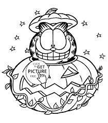 Small Picture Garfield Halloween coloring pages for kids printable free