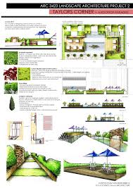 Landscape Design Presentation Board Sem 5 Arc 3412 Landscape Architecture Clinton Tham