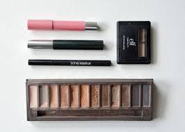 elf eyebrow kit tutorial. revlon balm stain in honey, clinique mascara, sonia kashuk eyeliner, urban decay naked. elf eyebrow kiteveryday kit tutorial