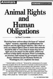 essay on hsus s official support for animal ldquo rights this essay was published in the 1982 edition of vegetarian times in it hsus legal counsel peter lovenheim then a 27 year old attorney acknowledges