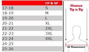 Our Legacy Size Chart Douglas Legacy Jd Shoulder Pad Kicker Punter Shoulder Pad