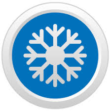 air conditioning services icon. snow icon air conditioning services