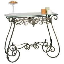 2564br metal console table