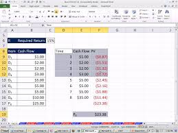 Excel Finance Class 61 Stock Value Based On Present Value Of Future Dividend Cash Flows