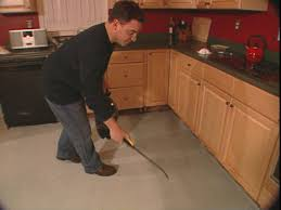 Concrete Floors Kitchen How To Install A Skim Coat For A Concrete Floor How Tos Diy