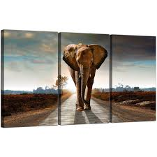 display gallery item 5 3 panel animal canvas wall art african elephant 3209 display gallery item 6 on african elephant canvas wall art with large african elephant canvas prints 3 part for your hallway