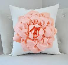 Etsy Throw Pillows Peach Dahlia Pillow Throw Pillow Georgia Peach Dahlia On