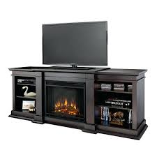 full image for electric fireplace firebox black replacement box real flame dark walnut wood wall mount