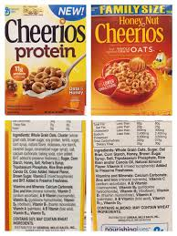 foodlabelfriday cheerios protein vs honey nut cheerios eat well for honey nut cheerios