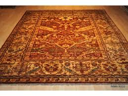 sold out 8 x 9 handmade persian chobi rug rustish red color