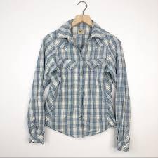 Filson Jacket Size Chart Filson Blue Plaid Snap Button Down Shirt
