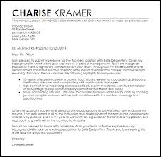 architect cover letter sample architecture cover letter