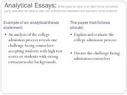 how to write an ytical essay