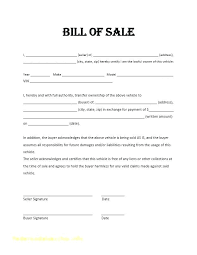 Car Sale Bill Of Template New Automotive Form Vehicle Canada