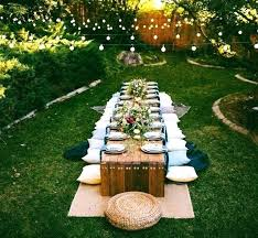outdoor night party decorations pictures