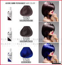 Hair Dye Colors Chart Ion Hair Dye Color Chart New Permanent Charm By Wella Of