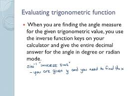 4 evaluating trigonometric