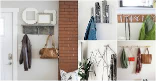 Behind The Door Coat Rack 100 DIY Coat Racks That Will Brighten Up Your Entryway DIY Crafts 48