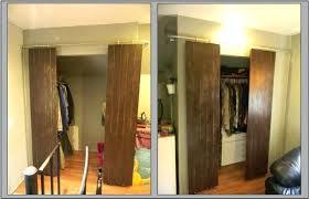 introduction closets with sliding barn style doors barnwood door closet hardware track set full size