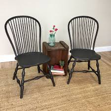 black windsor chairs. Image Of: Black Wooden Windsor Chairs Identify The Age Of Inside