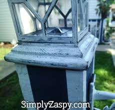 diy solar lamp yard post 8