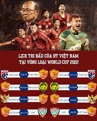 Lịch thi đấu vòng loại world cup 2022 của đội tuyển việt nam. Lịch Thi Ä'ấu Của Ä't Việt Nam Tại Vong Loại World Cup 2022