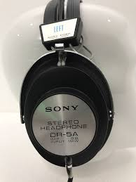 SONY Stereo Headphone DR-<b>5A</b> Vintage 1969 <b>100</b>% <b>Original</b> ...