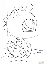 Littlest Pet Shop Seahorse coloring page | Free Printable Coloring ...
