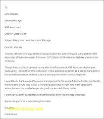 Management Resignation Letter Resigning Letter Example Professional Resignation Letter Format
