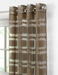 Geometric Patterned Curtains Awesome Geometric Sheer Curtain For Some Privacy But Also Allowing
