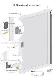 600 series screen door 1 5 8 roll form steel frame side adjusting rollers