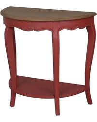 half moon console table. Madison Half-Moon Console Table Color: Antique Red Half Moon C