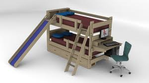 bunk bed with slide and desk. Bunk Bed With Futon And Desk. Slide Desk
