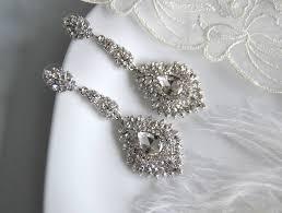 description scarlett chandelier bridal earrings