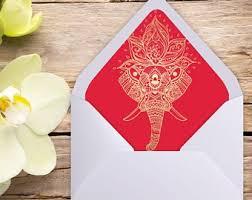 Printable A7 Envelope Liner Euro Flap Indian Wedding Etsy