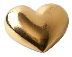 <b>Фарфоровое сердце Golden</b> Heart, фирмы «The Hearts» | PZ9813