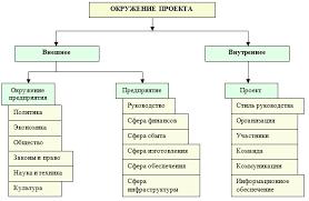 Оценка экономической эффективности инвестиционного проекта организации Схема окружения проекта дипломная работа