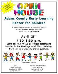Image Result For Preschool Open House Flyer Open House Preschool