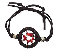 Dream Catcher Bracelet Amazon Amazon Dream Catcher Bracelet Red Natural Stones Black Suede 35