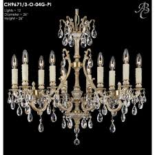 cau 12 light crystal chandelier finish silver crystal precision crystal oval clear